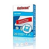 20 Staubsaugerbeutel | Filtertüten | Staubfilter passend für SilverCrest - SBSS 750 A1 - dustwave® Markenstaubbeutel/Made in Germany + inkl. 2 Microfilter (Megapack)