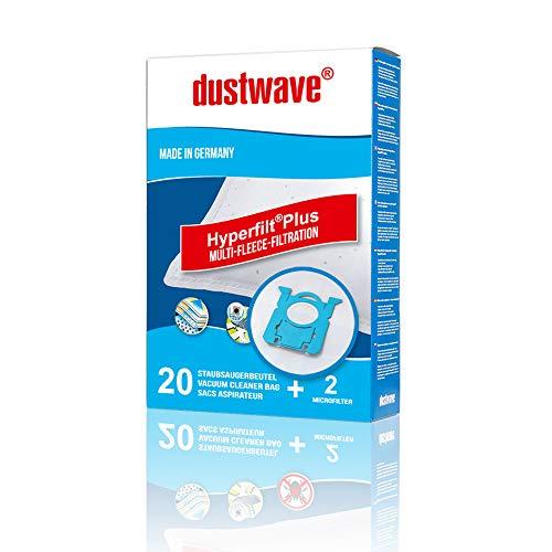 20 Staubsaugerbeutel | Filtertüten | Staubfilter passend für Edeka - E 05 / E05 - dustwave® Markenstaubbeutel/Made in Germany + inkl. 2 Microfilter (Megapack)
