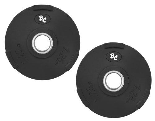 Bad Company Gummi-Gripper 2,5Kg (2x1,25) Hantelscheiben Hantel Gewichte Hanteln 30/31mm