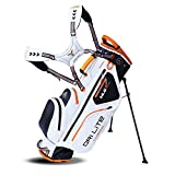 Big Max Dri Lite HYBRID Golf Cartbag & Standbag - Wasserabweisend - 2019 - White/Black/Orange