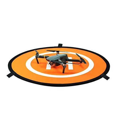 WOHAO Telefon Objektivzubehör Tragbare Parken Schürze RC Drone Quadcopter Schnell-Fach Landing Pad Tarmac Parkplatz for DJI Mavic Pro/Phantom 04.03, Durchmesser 75cm (Orange + Blau). (Color : Color1)