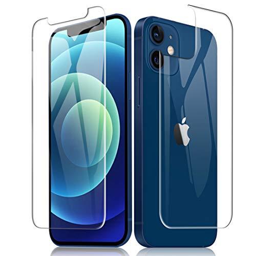 A-VIDET for iPhone 12 Mini 背面 フィルム【1枚】+iPhone 12 Mini 用ガラスフィルム【1枚】日本旭硝子素材 9H硬度 超薄 耐衝撃 耐指紋 白辺浮き防止 iPhone 12 mini 5.4 インチ保護フィルム
