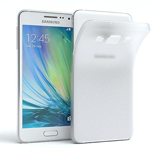 EAZY CASE Hülle kompatibel mit Samsung Galaxy A3 (2015) Schutzhülle Silikon, matt und Ultra dünn, Slimcover, Handyhülle, Hülle/Soft Hülle, Silikonhülle, Backcover, Transparent