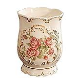 ZZTWER Ornaments, Decorate Céramique Jouet Pot Porte-Stylo Flowerpot Action Accessoires De Bureau Cadeaux De Noël Porte-Stylos Desk Organizers