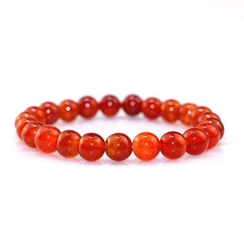 SataanReaper Presents Amethyst, Selenite, Red Tiger Eye Stone Bracelet for Unisex Reiki Crystal Healing Bracelet (Bead Size : 8 Mm) #SR-034