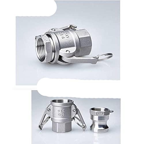 FSALFWUYIHDSF 1PCS 1/2'-4' Conector de Tubo de Acoplamiento r¨¢Pido D Tipo/B + F Tipo Accesorios Homebrew MPT FPT Adaptador de p¨²a-A y D Tipo, DN32