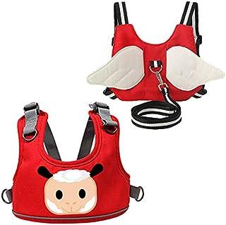 HAMILO 3WAYベビーチェアベルト 迷子防止ハーネス 歩行訓練ひも 椅子 子供 立ち上がり防止 (2種セット)