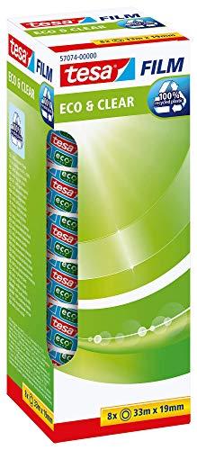 Tesa 57074-00000-00 Cinta Adhesiva Eco&Clear, Transparente
