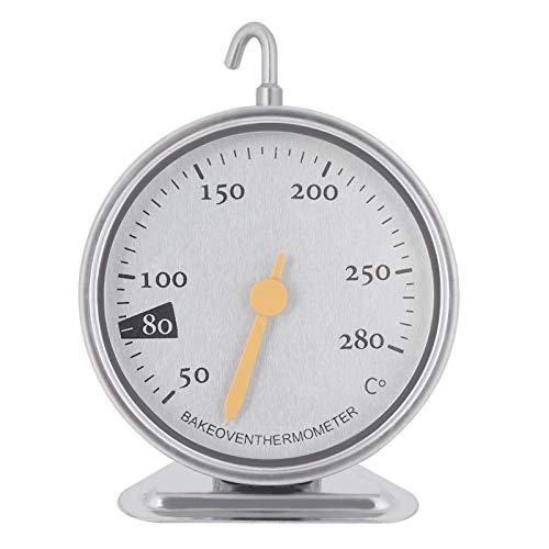 Termómetro Dial grande, Termómetro de horno 50-280 ° C, Termómetro de parrilla de horno Termómetro de acero inoxidable de lectura instantánea Termómetro de cocina para cocina