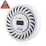 Detector de CO Alarma de monóxido de Carbono, Sensor electroquímico Batería de Litio Recargable CO Probador de Gas, USB Enchufe Monitor de CO con Pantalla OLED Digital para el hogar/Caravana (Blanco)