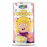 Nature's Finest Porridge de Avena para Niños Malie con sabor a Plátano 250g | Comida Orgánica y Saludable para Niños | Vegetariana y Vegana.