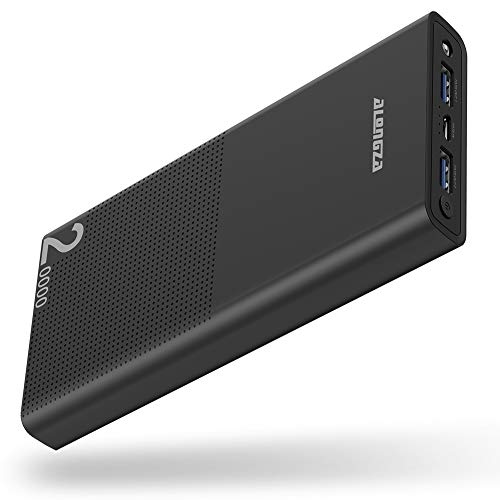 Portable Charger 20000mAh Cell Phone Portable Battery Charger External Battery Power Pack Mobile Charger Backup Compatible with iPhone Xs XR X 8 7 iPad Galaxy S9 S8 & Android Phones,Black