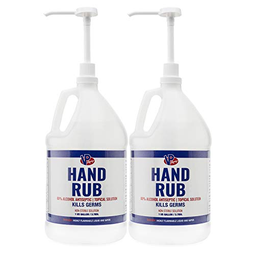VP Racing Fuels Hand Rub, 80% Alcohol Antiseptic, 1 Gallon 2...