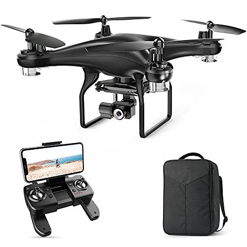SP600N 2K Drone con Telecamera, 2 Assi Gimbal con GPS, modalità Seguimi, Ritorno Automatico, Segna e Traccia, modalità Punti di Interesse, Waypoint, Telecamera Regolabile(con Borsa)