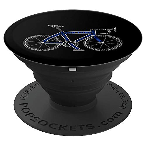 Funny Bicycle Racer Biking Gifts For Men Boys Kids Women PopSockets Grip and Stand for Phones and Tablets