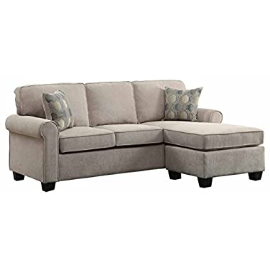 Homelegance Clumber 82  Reversible Sectional Accent Pillows, Beige