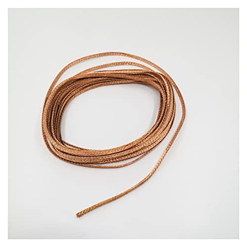 Cable Sleeves,Cubre Cables Red de escudo de cobre de 10 m de disipador de calor 2 mm-20 mm manga de cable trenzada anti-interferencia for el altavoz de audio eléctrico Funda de metal Organizador Cable