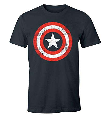 T-Shirt Enfant Captain America Marvel - Vintage...