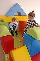 Velinda Completo 17 grandi mattoni,blocchi,cubi in schiuma gioco bambino, scuola materna (colore: mix1) #3