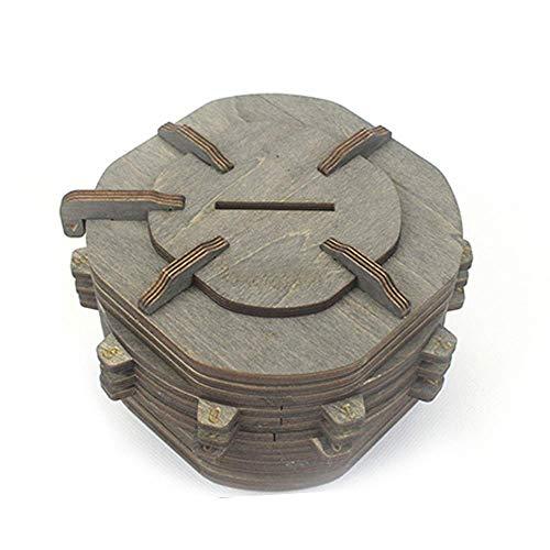 QWEA Contraseña Cerradura Hucha Caja de Almacenamiento de Escritorio Caja de Almacenamiento Caja de Almacenamiento de Madera Protección del Medio Ambiente, Seguridad y Salud Puede almacenar