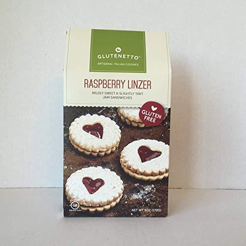 Gluten Free - Glutenetto Artisanal Italian Cookies Raspberry Linzer Mildly Sweet & Slightly Tart Jam Sandwiches