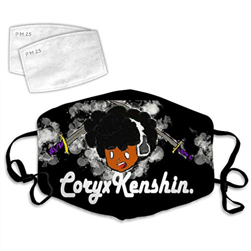 Kenshin-CXK Adjustable Anti Dust Scarf Face Mouth Mask Filters Balaclavas Halloween Outdoor Women Men White