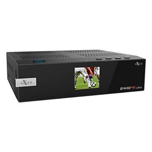 Axas E4HD 4K Ultra HD Linux E2 S2X HDTV Sat IP USB 3.0 Wifi Gigabit LAN H265 PIP 1x DVB-S2 Tuner