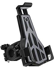 AKEIE自転車 スマホ ホルダー オートバイ バイク スマートフォン マウンテンバイク 携帯ホルダー GPSナビ 固定用 スタンド 3角形フレーム 強力固定 脱落防止 3.5-6.5インチのiPhone/Andriodなど多機種対応 角度調整 360度回転 脱着簡単