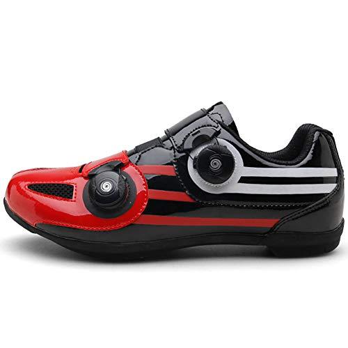 JINGJIE Zapatos de montar sin bloqueo, zapatos de ciclismo de doble perilla para deportes al aire libre montañismo, A, 42EU