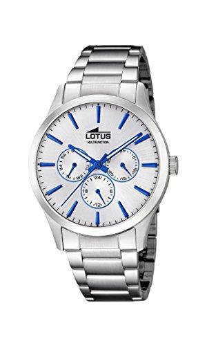 Lotus Watches Herren Multi Zifferblatt Quarz Uhr mit Edelstahl Armband 18575/1