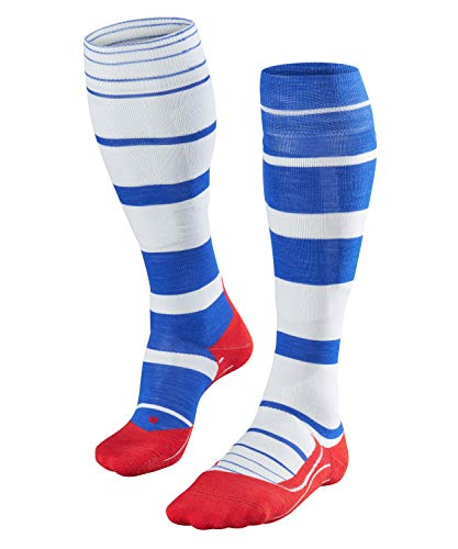 FALKE Damen, Skisocken SK4 Stripe Merinowollmischung, 1 er Pack, Blau (Yve 6714), Größe: 41-42