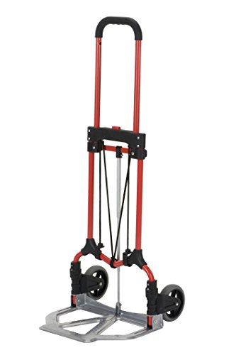 Magna Cart S-RS Personal MCI Folding Steel Hand Truck, Red/Silver
