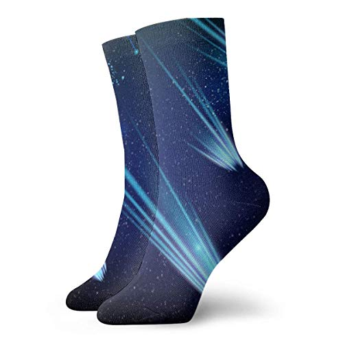 XCNGG Calcetines Cosmic Space Template Calcetines para correr para mujeres y hombres - Crew Athletic Sock
