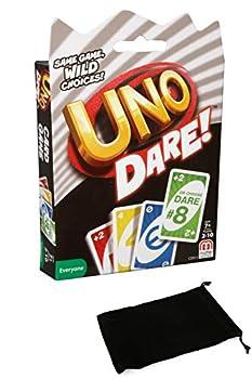 Uno Dare Card Game Bundle with Drawstring Bag
