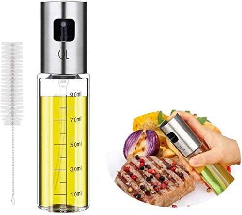 Voarge Öl Sprühflasche, Ölsprüher mit extra feinem Sprühnebel, Aus transparentem Glas, BPA-Free and 100% Lebensmittelsicherheit