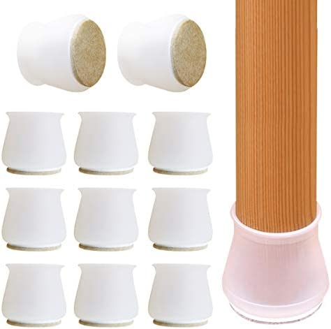 Chair Leg Protectors for Hardwood Floors Felt Bottom Silicone Chair Leg Covers Furniture Pads product image
