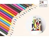 B&Julian Buntstifte Set 24 Farben sechskant für Kinder und erwachsen Farbstifte in Box Dose Etui Aufbewahrung