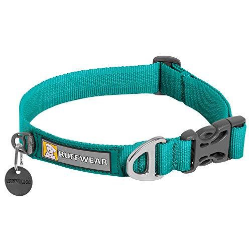 Ruffwear Front Range Hundehalsband, Strapazierfähiges und Bequemes Halsband für den Täglichen Gebrauch, Aurora Teal, 36-51 cm