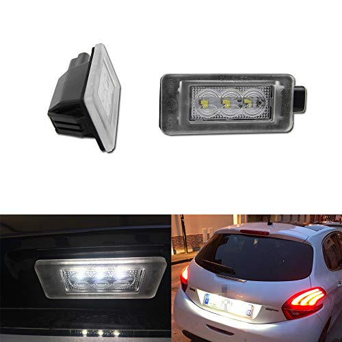 Canbus Nessun errore LED Accessori luce targa per Peu-geot 207 208 308 2008 3008 5008 Citroen C5 III RD 08 Luci posteriori OEM # 9682403680