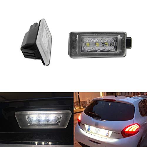 Canbus Sin Error LED Número De Licencia Luz De Placa Accesorios Para Peu-Geot 207208308 2008 3008 5008 Citroen C5 III RD 08 Luces Traseras OEM # 9682403680