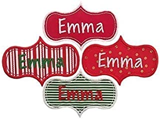 Custom Personalized Embroidered Iron On Name Patch Tag-For Christmas Stockings And Other Holiday Items!(1 patch)