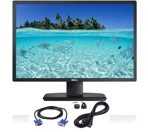 Dell P2412HB Full HD 24 inch LED Backlit Monitor, 1080p at 60 Hz, VGA & DVI, USB 2.0 Downstream, USB 2.0 Upstream, 16.7 Milli0on Colors, 178 Degree Viewing Angle, 60/80 Refresh Rate (Renewed)