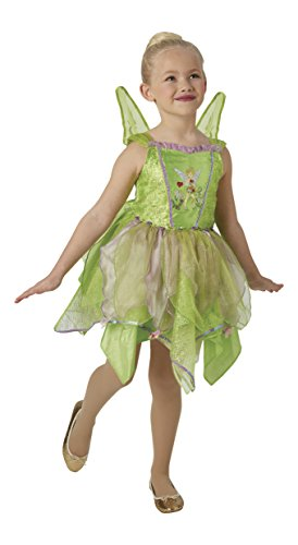 Peter Pan - Disfraz de hada Campanilla Premium para niña, infantil 5-6 años (Rubie's 640428-M)