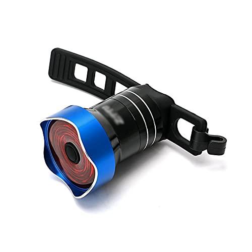 TSRJ Luz Trasera para Bicicleta, luz LED Trasera para Bicicleta, USB Recargable, Impermeable, para Casco, Mochila, luz LED, luz estroboscópica de Advertencia de Seguridad, 6 Modos de luz,Blue