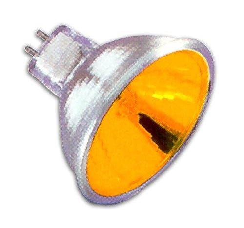 Halco 107119 - MR16BAB/YEL - Yellow 20 Watt MR16 Halogen Light Bulb, 36 Degree Beam Spread, 12 Volt