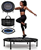FITPULSE Mini Trampoline for Adults - Rebounder Trampoline Indoor Trampoline for Adults Small Trampoline Fitness Trampoline Exercise Trampoline for Adults Rebounder for Adults Trampoline Blue Ring