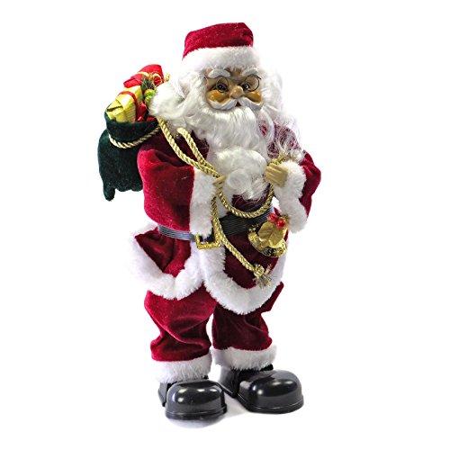 SSITG Weihnachtsmann singend tanzend Santa Claus Nikolaus Weihnachten Deko Figur 35 cm (deutsche Lager 3-7 Tagen Lieferzeit)