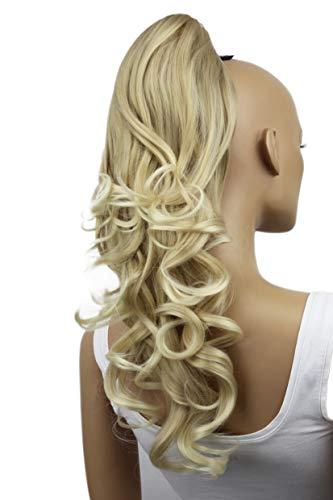PRETTYSHOP 40cm Haarteil Zopf Pferdeschwanz Haarverlängerung Voluminös Gewellt Hellblond H206