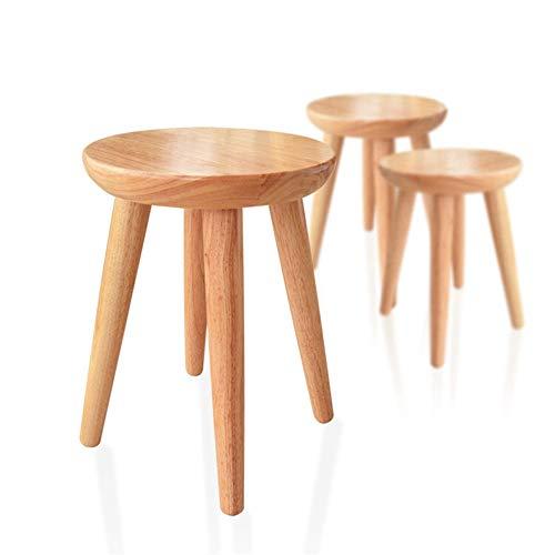 ZXYDD massief hout- massief hout kruk, voet krukje lage ronde duurzame tafel stoel dressing huis eetkamer woonkamer slaapkamer tuin gemaakt voor huis hout