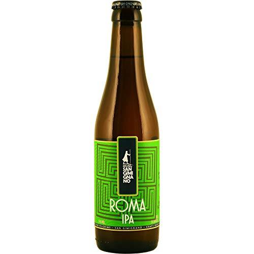 San Gimignano Cerveza artesana IPA Roma SIN Gluten - 100% Bio - 33 cl (Paquete de 12 Piezas)